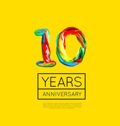 10th anniversary congratulation for company vector
