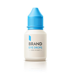 3d contact lens drops container mock up vector image