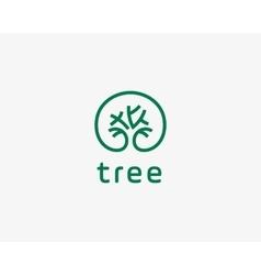 abstract elegant tree park line logo icon design vector image