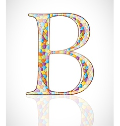 Abstract letter B vector image