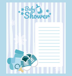 Baby shower blank card vector