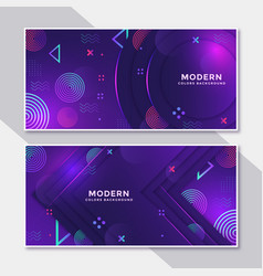 Banner hipster futuristic graphic vector