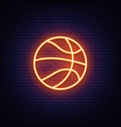 Basketball neon icon design element vector