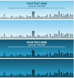 Boston skyline event banner vector