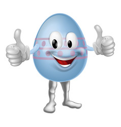 Cartoon easter egg character vector