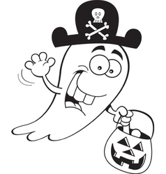 Cartoon Trick or Treat Ghost vector
