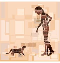 Cat woman vector