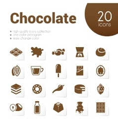 chocolate icons vector image