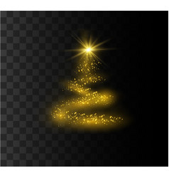 christmas festive tree vector image