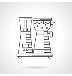 Coffee machine thin line design icon vector