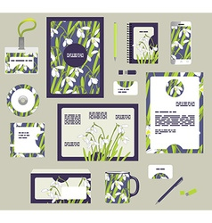 Corporate style business templates Set of spring vector image