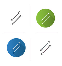 Cotton buds icon vector