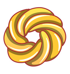 curl bakery icon cartoon style vector image