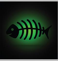 dead fish skeleton vector image