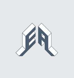 Ea - 2-letter code e and a - monogram or logotype vector