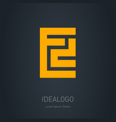 ed - design element or icon e and d initial logo vector image