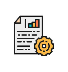 engineering documents with diagram and gear wheel vector image