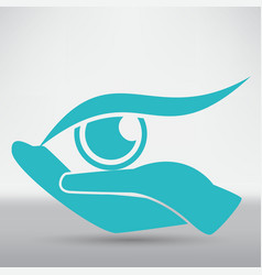 eye protection or eye doctor concept vector image