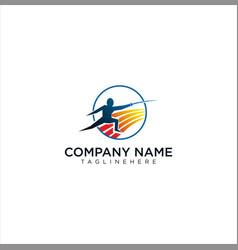 Fencing logo design stock vector