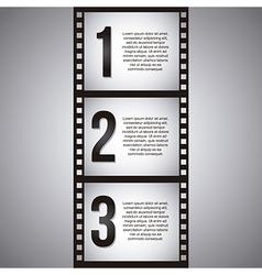 Film stripe over gray background vector