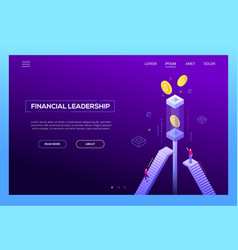 financial leadership - modern isometric vector image