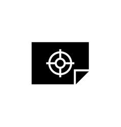 firing range target aim flat icon vector image