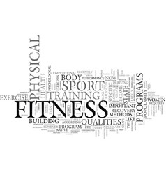 Fitness for life text background word cloud vector