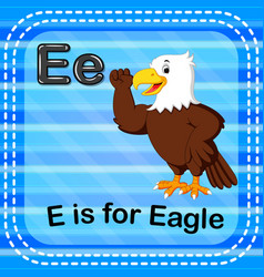 flashcard letter e is for eagle vector image