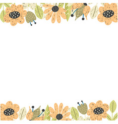 Floral borders template background with place vector