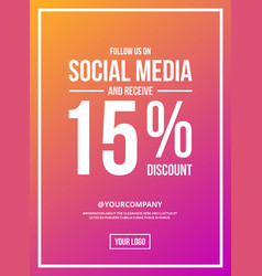 follow us on social media sign poster vector image