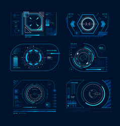 futuristic virtual screen monitoring hud panel vector image