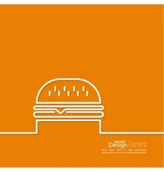 Hamburger icon on background vector