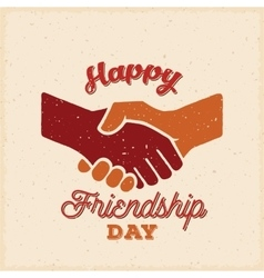 Happy Friendship Day Retro Card Poster or vector image