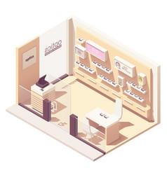 Isometric eyewear store vector