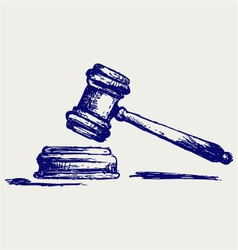 Judge gavel vector image vector image