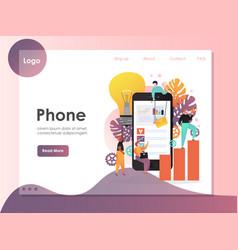 mobile phone website landing page design vector image