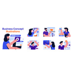 Modern colorful business concept set 3 vector