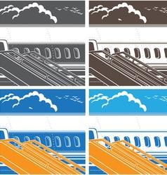 modern jet airliner symbol vector image