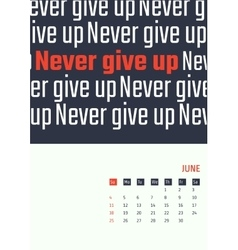 motivation quotes calendar 2017 vector image