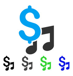 Music price flat icon vector