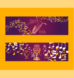 musical instruments set of banners vector image