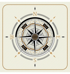 Nautical vintage compass 02 vector