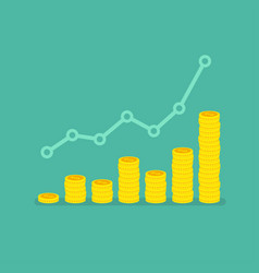 Nonlinear growth graph with stacks coins vector