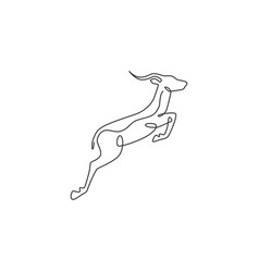 One continuous line drawing adorable jumping vector