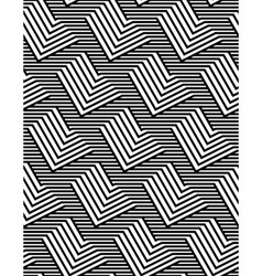 Op Art Design Zig Zag Striped Seamless Pattern vector image