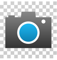 Photo camera gradient icon vector
