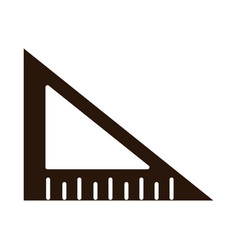 School education triangle ruler angle supply vector