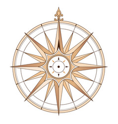 sea compass vintage vector image