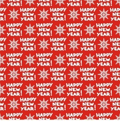 seamless pattern for new year vector image