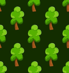 seamless pattern with tree vector image